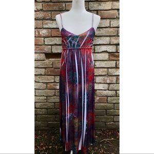 Tracy Lynn Tie-Dye Maxi Dress NWT Size M